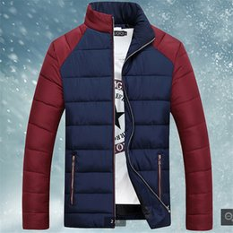 Wholesale Eiderdown Coat - Fall-Latest Male Winter jacket Coat Big yards Winter coat Stand collar Leisure Outdoor Eiderdown cotton Keep warm Man clothes BN179