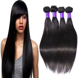 Wholesale Elites Hair Brazilian - 100 virgin brazilian hair straight 4 bundles real hair extensions elites hair products cheapest 100% human hair