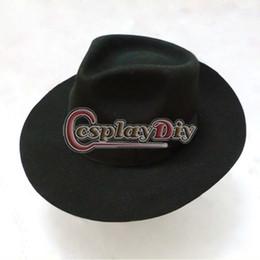 Wholesale Dance Costume Accessories Hat - Wholesale-Michael Jackson Black Hat Adult Dance Stage Cosplay Accessories