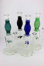 "Wholesale gears oil - Windmill Water glass Bong tall 13.5"" Gear Base glass oil rigs grenade shape water pipe color sent random"