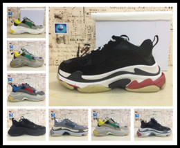Wholesale Perfect Combinations - Only 6 colors DHL perfect products combination sole men triple-s sneakers 17FW running shoes Athletic strong solid sports shoes lovers 36-44