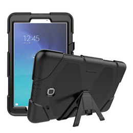 Wholesale Cover For Galaxy Tab3 - Heavy Duty Shockproof Protective Case for Samsung Galaxy Tab E 9.6 inch SM-T560 T561 Silicone KickStand Cover with Screen Protector