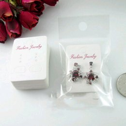 Wholesale earring package card - 24pcs Wholesale Earrings Card 32*45mm opp bag 50*110mm Earring packaging bag Fashion Earrings Stud Printing Jewelry Charms New Free Shipping