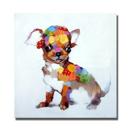 Wholesale Carton Oil - Carton animal pictures hand painted funny animal wall pictures top quality hand drawing heap modern paintings