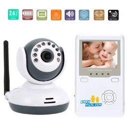 Wholesale Doppler Fetal Rechargeable - Baby Monitor Baby Monitors 2.4inch LCD IR Night Vision 2 way Talk Zoom Rechargeable Battery video nanny fetal doppler