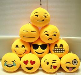 sacs d'émotion Promotion Nouveau Porte-clés 8 cm Emoji Smiley Petit pendentif Emotion Jaune QQ Expression En Peluche Peluche poupée jouet pour Mobile sac pendentif Livraison Gratuite