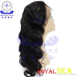 Wholesale Dhgate Express - Royal Sea Made In China Supplier DHgate Express Human Hair Extension Remy Virgin Hair 180 Density Front Lace Human Hair Wig