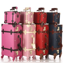 24 maletas rodando online-Al por mayor-LongTeng 2016 Nueva Moda PU Rolling Equipaje 12 24 pulgadas Equipaje Conjuntos Tarjeta de maleta