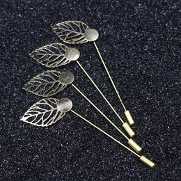 Canada 1,5 cm feuille d'or plaqué cuivre chapeau broche broche Diy bijoux conclusions bijoux accessoires broche lapel base pour les femmes hommes Offre