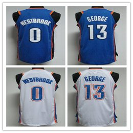 Wholesale Paul George Jersey - 17 18 men's new 13# paul george jersey 0# russell westbrook basketball jerseys 100% stitched free fast shipping