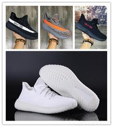 Wholesale Massage 18 - 2018 SPLY-350 Boost V2 2016 New Kanye West Boost 350 V2 SPLY Running Shoes Grey Orange Stripes Zebra Bred Black Red 18 Color
