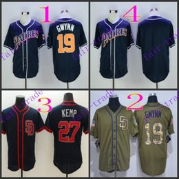 Wholesale San Diego Padres Tony Gwynn matt kemp Baseball Jersey Cheap Rugby Jerseys Authentic Stitched Size