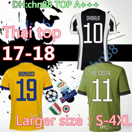 Wholesale Italy Home - 2017 New Italy Club soccer jersey 17 18 home away 3rd Yellow Blue DYBALA MORATA MARCHISIO MANDZUKIC DANI ALVES 2018 Serie A football shirt