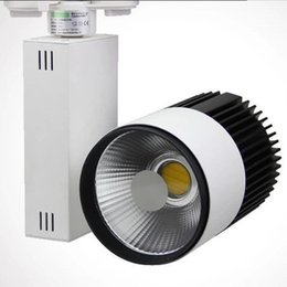 Wholesale Fedex Shops - Wholesale-Fedex Free Shipping 10pc lot 30w 2 wire LED track light for store shopping mall lighting lamp Color optional Spot light 85-265v