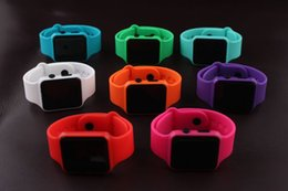 Wholesale Unisex Wrist Watches Dates - Utop2012 Hot Selling 100Pcs Square Mirror Face Silicone Band LED Digital Watch LED Quartz Wrist Watch Sport Clock Hours Free DHL
