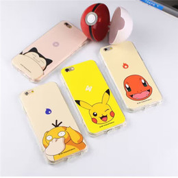 Wholesale Iphone Cover Lover Cartoon - Poke Pikachu Soft Shell Cell Phone Cases Lover Cartoon Back Cover Protective Case for iphone6 6S(4.7) iphone6P 6Splus(5.5) with Opp bag F644