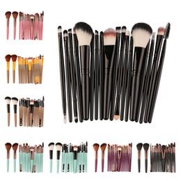 Wholesale Eyebrow Sponge Brush - 18PCS SET Makeup Brushes Set Eyebrow Eyeshadow Eeylash Eyeliner Powder Glooming Blush Sponge Blending Beauty Women Cosmetic Make Up Tools