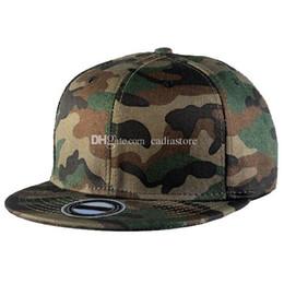 Wholesale Wholesale Flat Bill Hats - Camouflage Camo Flat Bill Baseball Hats Cotton Snapback Adjustable C00275 BARD