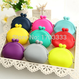 Wholesale Japanese Coin Ship - #RG-793 Candy color mini coin bag cute coin purse silicone money bag puse Japanese style coin wallet 50pcs lot free shipping