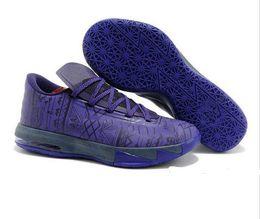 Wholesale Kevin Durant Basketball Shoes Kd Vi - Purple mens basketball shoes KD VI BHM Kevin Durant VI KD 6 mens basketball shoes Kd6 Sneakers ZOOM phylon men sports shoes dynamic 41-47