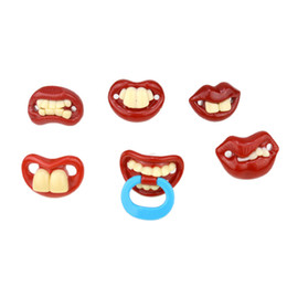 Wholesale Joke Toys Pranks Wholesale - Silicone Funny Nipple Dummy Baby Soother Joke Prank Toddler Pacy Orthodontic Nipples Teether Baby Pacifier Christmas Toys Wholesale 2110064