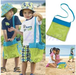 Bolsas de arena de nylon online-Los niños escogen la playa Treasures Sea Shell Arena Llevan los juguetes Bolsa de mano Bolsa de almacenamiento para niños
