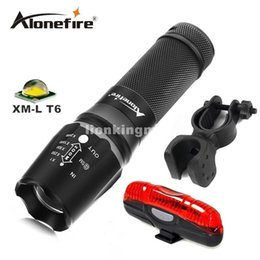 Wholesale Bicycle Flashlight Torch - X800 3800LM CREE XM-L T6 focus adjustable outdoor camping 5modes led flashlight torch light lamp+bicycle light+mounts