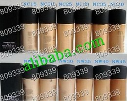 Wholesale 15 Foundation Liquid - 12 PCS FREE SHIPPING 2016 MAKEUP Newest Lowest FIX FLUID SPF 15 Foundation Liquid 30ML