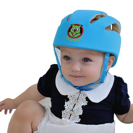 Wholesale Toddler Cotton Spring Hats - baby infant protective hat crashproof bump Anti- Shock safety cap playing toddler cap baby Helmet Toddler for learning walk