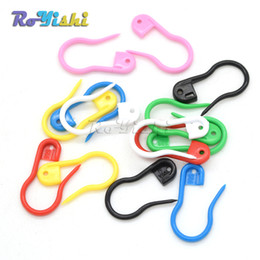 "Wholesale Charms Baby Shower - 100pcs lot 7 8""Length Colorful Plastic Safety Pins For Label Tags Fasteners Charms Baby Shower"