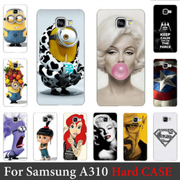 Wholesale Diy Cellphone Case - Wholesale-For Samsung Galaxy A310 Case (2016 Edition A3) Hard Plastic Mobile Phone Case DIY Color Paitn Cellphone Bag Shell Shipping Free