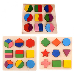 Wholesale Early Baby - Kids Baby Wooden Learning Geometry Educational Toys Puzzle Montessori Early Learning Toys