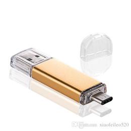 Unidades flash samsung online-8GB / 16GB / 32GB / 64GB Micro USB Tipo-C 3.1 Memoria Flash Drive U Disco OTG Pendrive para Samsung S7 S6 nota 5