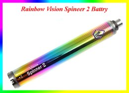 Wholesale Ecigarette Variable Battery - Rainbow Vision Spinner 2 ecig battery Variable Voltage 1600mah Vision Spinner II Ecigarette 3.3V-4.8V ego twist Battery VS EVOD Twist 2