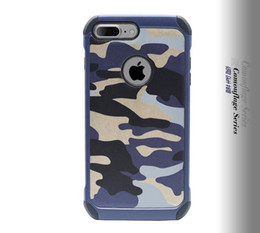 Wholesale Military Camo Case - For iphone7 Military Camouflage Navy Army Camo Hard Cover Soft TPU Armor Case for iphone 7 6 6s plus note 7 S7 EDGE