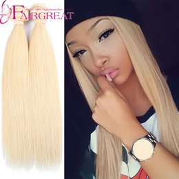 Wholesale Beautiful Hair Pieces - TOP Quality Beautiful 613 brazilian hair high quality 3pcs brazilian virgin hair straight Soft and smooth wholesale 613 blonde virgin hair