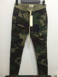 Wholesale Urban Clothing Brands - New S-2XL urban brand-clothing chinos kanye west camo camouflage trousers joggers men FOG FEAR OF GOD cargo side zipper pants