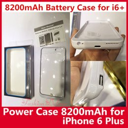 Wholesale External Universal Charger For Cellphones - External Battery Case for i6s plus 8200mAh Battery Charger Power Case for iPhone 6 Plus 5.5 inch Cellphone Battery Case Hotsale Instock