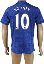 Wholesale Valencia Football - wholesale Thai Quality 16-17 new season 10 ROONEY Football Jerseys Tops,Customized 25 VALENCIA Soccer Jersey Shirt,27 FELLAINI Soccer WEAR