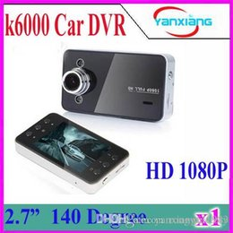 "Wholesale Pc Dvr Card Hd - 1 PCS K6000 Car DVR Blackbox HD Cameras Video Recorder 1080P Full HD 2.7"" HD Screen Night Vision 50pcs Free DHL ZY-DV-03"