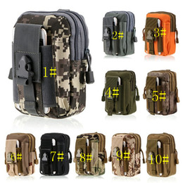 Wholesale Camo Belt Pouch - Tactical Waist Belt Pouch For men Molle Holster Army Camo Bags Outdoor camouflage nylon case Wallet for iphone 8 7 samsung s8 s7