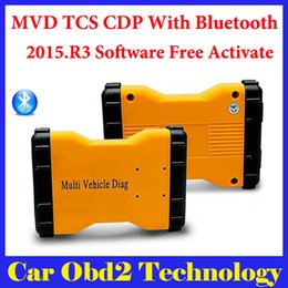Wholesale Diag Box - 2015.R3 Mulit Vehicle Diag MVD With Bluetooth Same Function As TCS CDP Pro For Cars amd Trucks 3 IN1 + Carton box Free Shipping