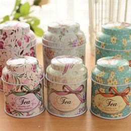 Wholesale Tins Containers Free Shipping - 2016 New European Romantic 5 PCS Lot Wedding Candy Boxes Wedding Festival Gift Box Tin Box Storage Box Tea Container Free Shipping