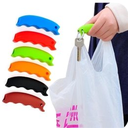 Sacchetto di acquisto dell'uomo di eco online-Hot semplice silicone shopping bag basket carrier bag carrier portatore di drogheria manico comodo grip grip effort-save corpo mechanics IB361