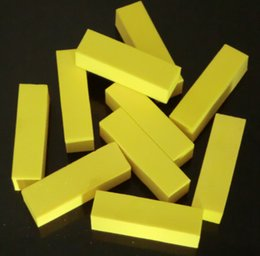Wholesale Color File - 10Pcs Yellow Color Professional High quality Nail Buffer Block Nail Art Tips Sanding Files