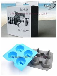 Wholesale Shark Ice Mold - High Quality Cool Silicone Brain Shape Ice Cube Freeze Mold Shark 3D Shape Ice Tray Ice Cream Tools 2015 New