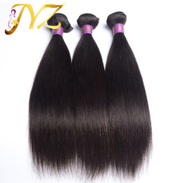 Wholesale European Mixed - Human Hair Products 3pcs lot Brazilian Indian Peruvian Malaysian Hair Straight,100% Unprocessed Hair Extensions Shipping Free