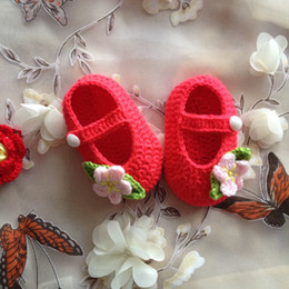 Wholesale Toddler Flip Flops Wholesale - Free Shipping Handmade Crochet Baby Shoes, Baby girl Pink Flowers Flip Flops, Baby Toddler shoes Crochet baby sandals