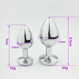 Wholesale Sex Tools For Couples - Women big large head alloy steel metal anal butt plug balls anal butt gay adult sex toys products game tools for couple female