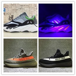 Wholesale Night Men - 2017 New 700 Boost Wave Runner Running Shoes Mix 350 V2 Varied Colors With Box Yebra,Blue Tint,Red Night,Beluga Size 36-46